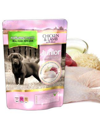 Natures Menu mokra hrana za mladiče v vrečki piščanec riž