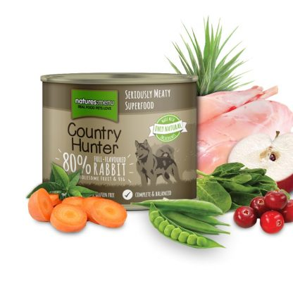 Natures Menu konzervirana hrana za pse brez žitaric kunec