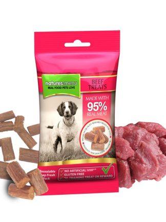 mehki priboljški za pse natures menu govedina za učenje trening in klikanje