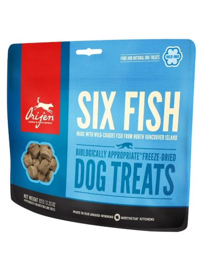 Orijen priboljški za pse riba dehidrirani