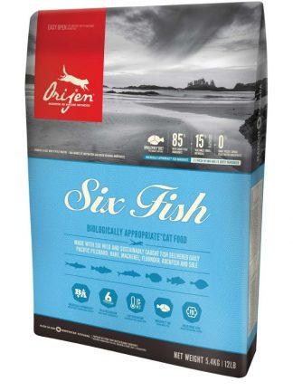suha mačja hrana brez žitaric šest rib kanada