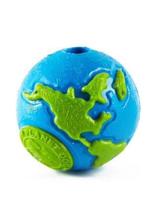 planet dog eko žoga za psa modro zelena