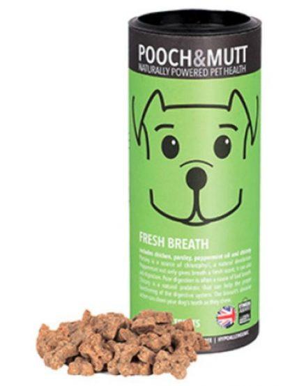 Pooch and mutt mini piškotki za pse za svež dah pepermint tubica