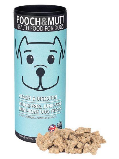 Pooch and mutt mini piškotki za pse oglje prebiotiki za prebavo tubica