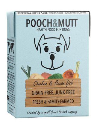 Pooch and mutt mokra hrana za pse brez žitaric piščanec in oceanska riba tetrapak