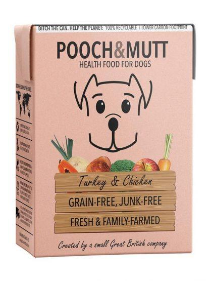 Pooch and mutt mohra hrana za pse brez žitaric puran piščanec tetrapak