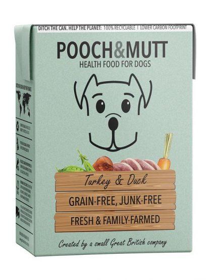 Pooch and mutt mokra hrana za pse puran raca tetrapak brez žitaric