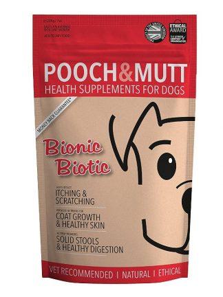 Pooch and mutt bionic biotic prehransko dopolnilo za pse prebavo probiotiki prebiotiki