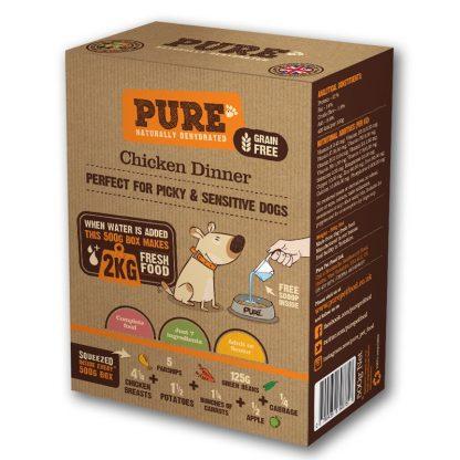 Pure dehidrirana pasja hrana piščanec
