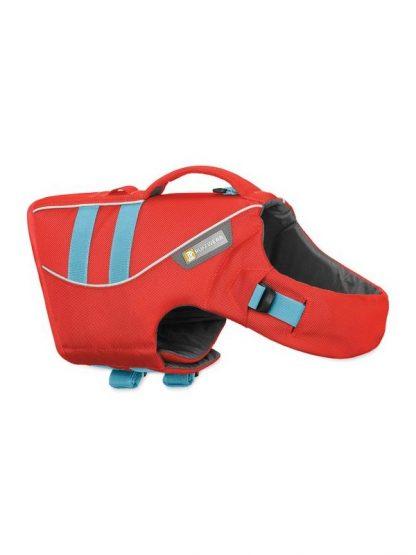 rešilni jopič za pse rdeč lahek okreten varen