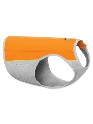 hladilni jopič za pse vroče dni lahek tanek raztegljiv oranžen ruffwear