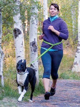 slackline prilagodljiv povodec za pse okoli pasu tek pohodništvo