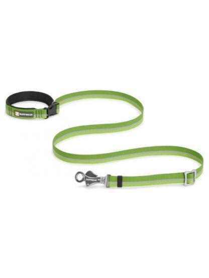 povodec za pse prilagodljiv nastavljiv za tek pohodništvo zelen kvaliteten močan