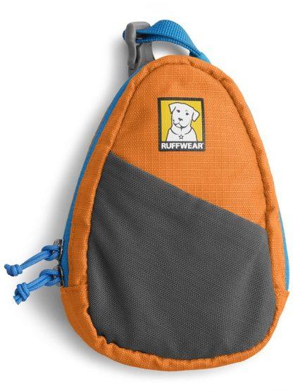 torbica za vrečke z žepkom za ključe oranžna