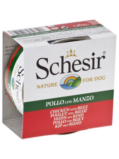 Schesir konzerva za pse piščanec in govedina