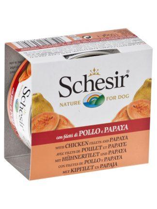 Schesir piščanec in papaja konzerva file