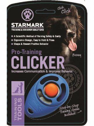 kliker za učenje psov v embalaži moder glasen kvaliteten