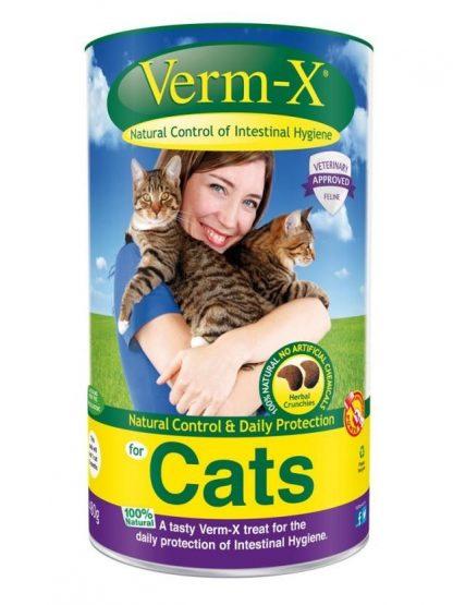 Verm-x naravno prehransko dopolnilo za mačke proti zajedavcem glistam