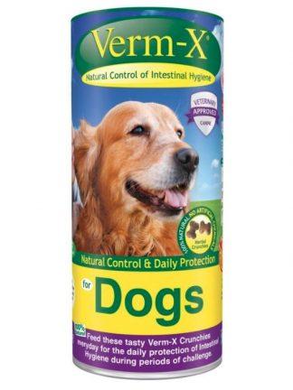 Verm-x naravno prehransko dopolnilo za pse proti zajedavcem klopom ušem glistam
