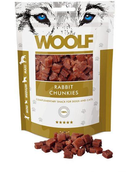 woolf koščki kunca mini priboljški za pse in mačke primerni za nagrajevanje