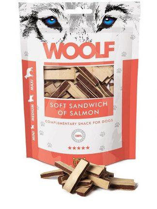 Woolf sendvič iz lososa mehki priboljšek za pse primeren za trening