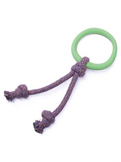 mehak gumijast obroč na vrvi za psa beco pets