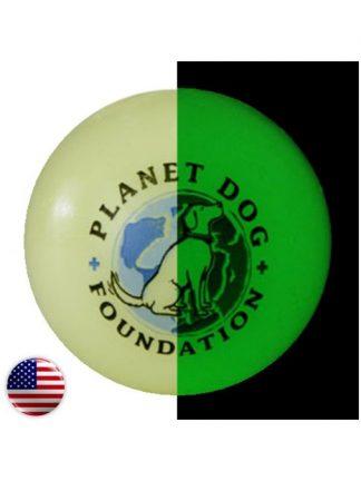 planet dog žoga, ki sveti v temi