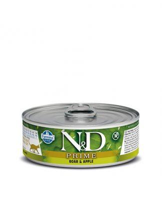 N&D hrana za mačke svinjina in jabolko konzerva