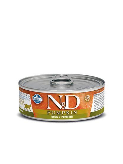 N&D buča in raca hrana za mačke konzerva