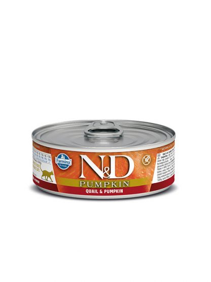 N&D hrana za mačke prepelica in buča konzerva