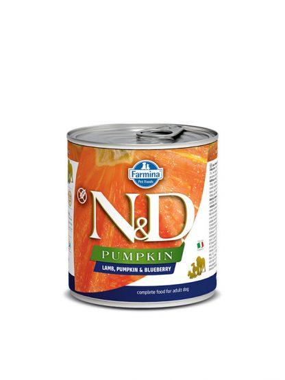 N&D hrana za pse buča z jagnjetino konzerva