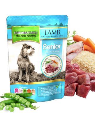 mokra hrana za pse natures menu senior za starejše pse jagnjetina