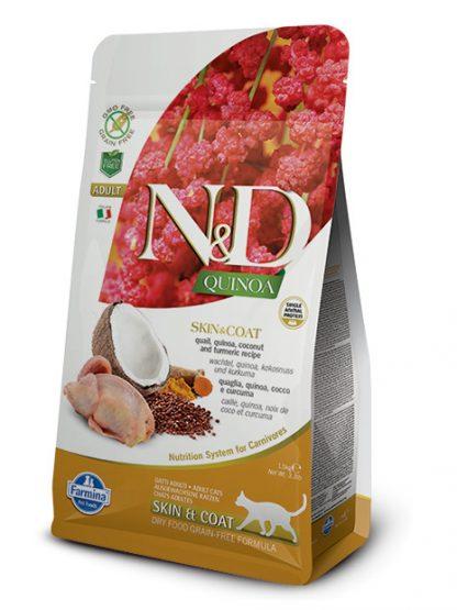 N&D hrana za mačke kvinoja prepelica