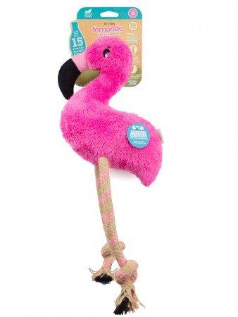 beco igrača flamingo fernando iz recikliranih materialov in konopljine vrvi
