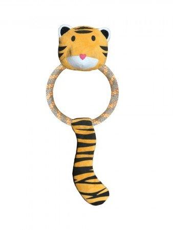plišasta igrača z obročem za pse beco tigrica tilly