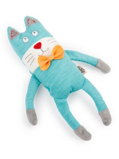 all for pets igračka za mačke plišasta modra mačka
