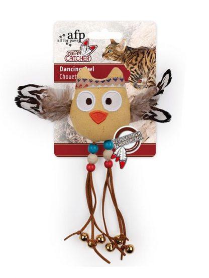 All For Paws Dream Catcher Dancing Owl igrača za mačke sovica