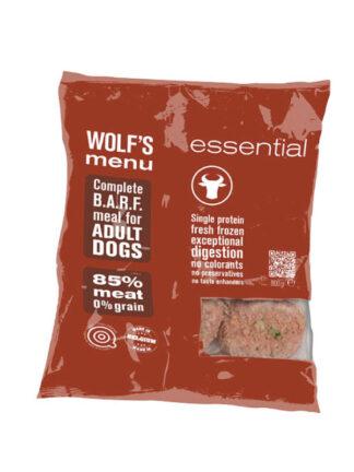 wolfs menu barf govedina